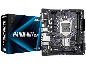 ASRock H410M-HDV R2.0 Intel H410 Chipset Socket 1200 Motherboard