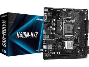 ASRock H410M-HVS LGA 1200 H410 Chipset Micro ATX Motherboard