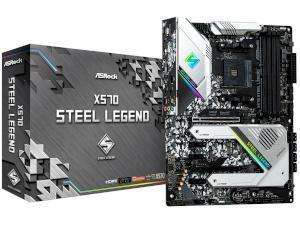 ASRock X570 Steel Legend AMD X570 Chipset Socket AM4 ATX Motherboard