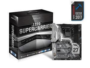 Asrock Z270 SUPERCARRIER Intel Z270 1151 ATX DDR4 XFire/SLI HDMI DP Thunderbolt Wi-Fi Triple LAN RGB LED