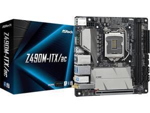 ASRock Z490M-ITX/ac LGA 1200 Z490 Chipset Mini ITX Motherboard