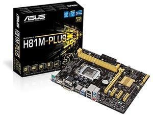 ASUS H81M-PLUS Intel H81 Socket 1150 Micro ATX Motherboard
