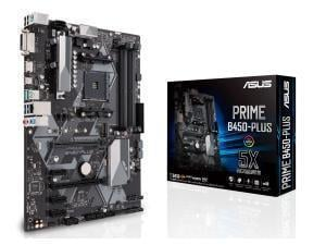 Asus Prime B450-Plus AMD AM4 B450 Chipset ATX Motherboard - Ryzen 3 Ready