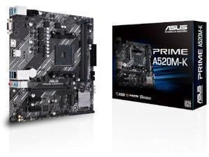ASUS PRIME A520M-K AMD A520 Chipset Socket AM4 Micro-ATX Motherboard