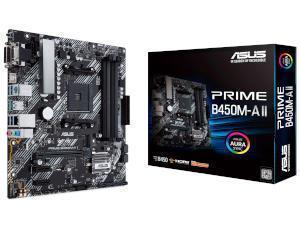 ASUS PRIME B450M-A II AMD B450 Chipset Socket AM4 Motherboard
