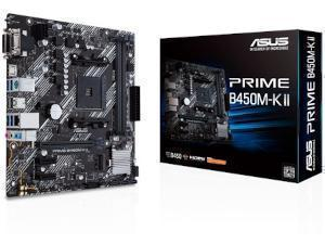 ASUS PRIME B450M-K II AMD B450 Chipset Socket AM4 Micro-ATX Motherboard