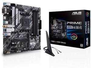*B-stock item - 90 days warranty*ASUS PRIME B550M-A WI-FI AMD B550 Chipset Socket AM4 Micro-ATX Motherboard