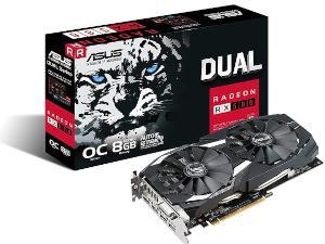ASUS Dual series Radeon RX 580 OC edition 8GB GDDR5