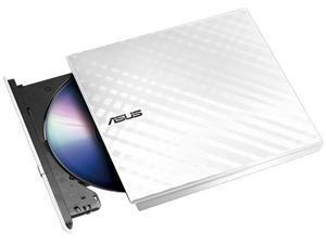 ASUS SDRW-08D2S-U 8x White Slim External DVD Re-Writer USB Retail