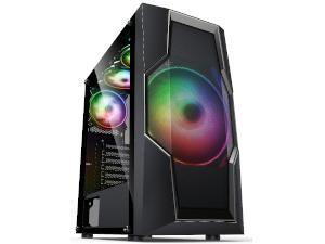 AvP ORASI Black RGB Tempered Glass Case - Mid Tower