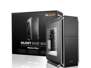 be quiet! Silent Base 800 Mid Tower case, Black/Silver with 3 x Pure Wings 2 Fans, Windowed Case