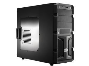 Coolermaster K-Series K350 Mid Tower case, Black, Windowed