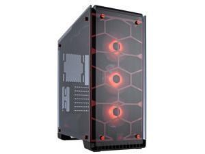 Corsair Crystal Series 570X RGB – Tempered Glass, Premium ATX Mid-Tower Case, RED
