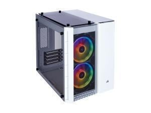 Corsair Crystal Series 280X Tempered Glass RGB Micro-ATX Case, White