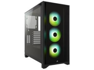 Corsair iCUE 4000X RGB Tempered Glass Mid-Tower ATX Case — Black