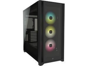CORSAIR 5000X iCue Black Tempered Glass RGB Gaming Case - Mid Tower