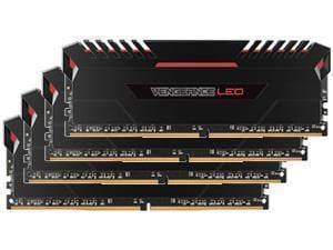 Corsair Vengeance LED Red 64GB 4x16GB DDR4 PC4-24000 3000MHz Dual Channel Kit
