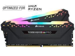 Corsair Vengeance RGB Pro 16GB 2x8GB DDR4 3200MHz Dual Channel Memory RAM Kit AMD Ryzen Edition