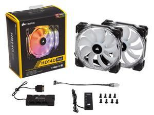 Corsair HD140 RGB LED 140mm Fans Dual Fans With Controller