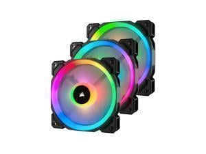 Corsair LL120 RGB 120mm Dual Light Loop RGB LED PWM Fan with Lightning Node Pro — Triple Pack