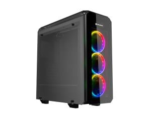 Cougar Puritas RGB Mid Tower Gaming Case Tempered Glass with 3 x Vortex RGB Fans and Contoler