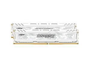 Ballistix Sport LT 8GB 2x4GB DDR4 PC4-19200C16 2400MHz Dual Channel Kit - White