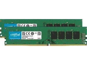 Crucial 16GB 2x8GB DDR4 2666MHz Dual Channel Memory RAM Kit