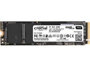 Crucial P1 500GB M.2 NVMe PCIe SSD