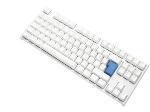 Ducky One2 TKL Pure White RGB Backlit Speed Silver MX Switch