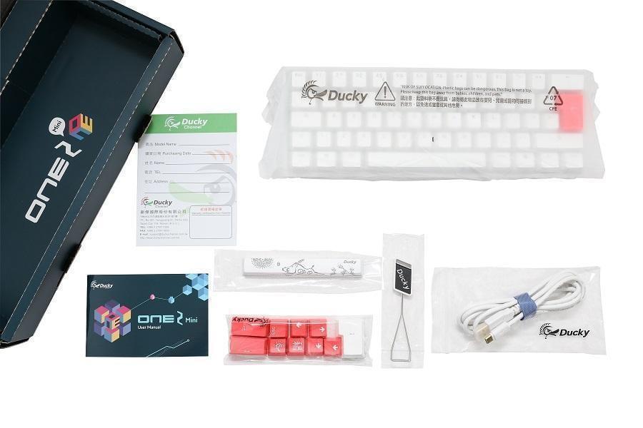 Ducky White One2 Mini Rgb Backlit Blue Cherry Mx Gaming Keyboard Novatech