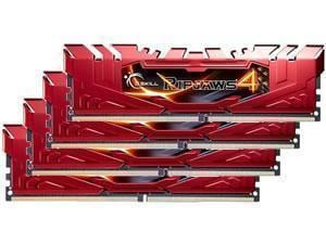 G.Skill Ripjaws 4 Red 16GB 4x4GB DDR4 PC4-21300 2666MHz Quad Channel Kit