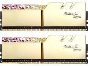 GSkill Trident Z Royal RGB Gold 16GB 2 x 8GB DDR4 3200MHz Dual Channel Memory RAM Kit