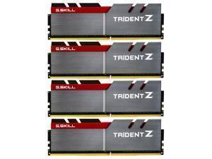 G.Skill Trident Z Red/Black/Silver 16GB 4x4GB DDR4 PC4-30900 3866MHz Dual Channel Kit Skylake