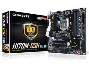 *B-stock item,manufacturer repaired - 90 days warranty* - GIGABYTE GA-H170M-D3H Intel H170 Socket 1151 Micro ATX Motherboard