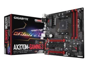 Gigabyte GA-AX370M-GAMING 3 AMD AM4 X370 Micro-ATX Motherboard