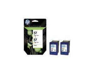 HP 57 Tri-Colour Ink Cartridge - 2 pack