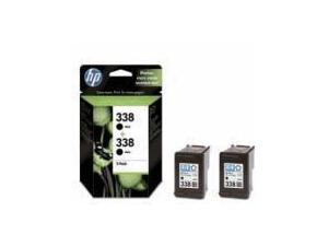 HP 338 Black Ink Cartridge - Twin Pack
