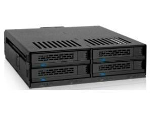 *B-stock item - 90 days warranty* - Icy Dock 4 Bay 2.5And#34; SAS/SATA HDD Andamp; SSD Hot Swap Backplane Cage for 5.25And#34; Bay