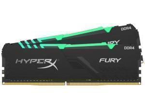 Kingston HyperX Fury RGB 16GB 2 x 8GB DDR4 2400MHz Dual Channel Memory RAM Kit