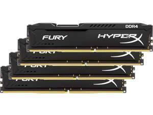 Kingston HyperX Fury Black 16GB 4x4GB DDR4 PC4-21300 2666MHz Quad Channel Kit