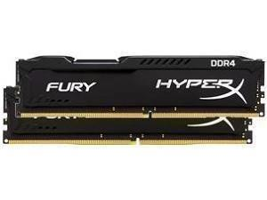 Kingston HyperX Fury Black 32GB 4 x 8GB DDR4 PC4-21300 2666MHz Dual Channel Kit