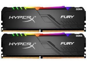Kingston HyperX Fury RGB 16GB 2 x 8GB DDR4 2666MHz Dual Channel Memory RAM Kit