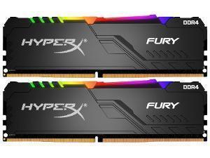 Kingston HyperX Fury RGB 16GB 2 x 8GB DDR4 3200MHz Dual Channel Memory RAM Kit