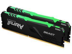 Kingston FURY Beast RGB 16GB 2x8GB DDR4 3600MHz Dual Channel Memory RAM Kit