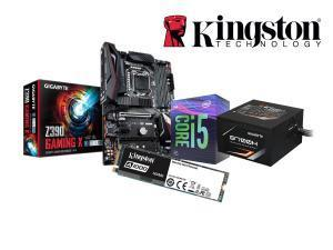 Kingston Bundle! - Kingston A1000 240GB NVME SSD plus Gigabyte Z390 Gaming X Motherboard plus Intel I5 9400F Processor plus Gigabyte B700H 80 Plus Bronze PSU