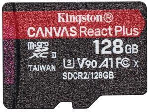 Kingston Canvas React Plus 128GB MicroSD Memory Card