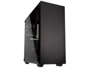 Kolink Stronghold Midi Tower Gaming Case - Black Tempered Glass Side Window