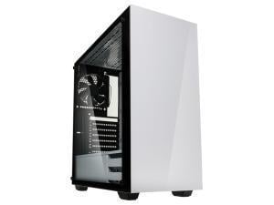 Kolink Stronghold Midi Tower Gaming Case - White Tempered Glass Side Window