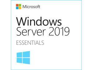 Microsoft Windows Server Essentials 2019 - 1-2 CPU, 25 User Limit, 64GB RAM Limit - OEM