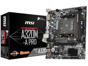 MSI A320M-A PRO AMD A320 Chipset Socket AM4 Micro-ATX Motherboard